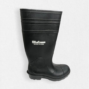 LaCrosse • Black Heavy Duty Rubber Rain Boots